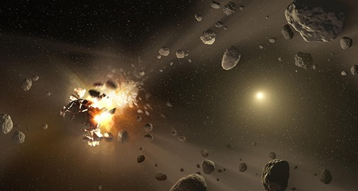 Asteroid Family's Shattered Past (Artist Concept)