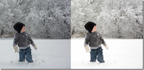 gray white child snow